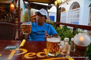 Ons eerste biertje samen